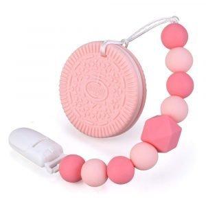cookie teether pink