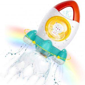 fountain rocket bath toy